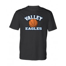GV 2020-21 Girls Basketball Dry-Fit Short Sleeve Tee (Black)