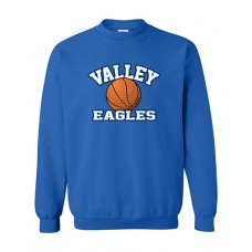GV 2020-21 Girls Basketball Crewneck Sweatshirt (Royal)