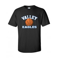 GV 2020-21 Girls Basketball Short-sleeved T (Black)