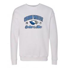 GV 2020-21 Swim Sponge Fleece Crewneck Sweatshirt, (White)