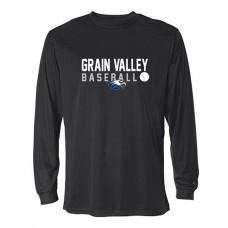GV Baseball Dry-fit Long-sleeved T (Black)
