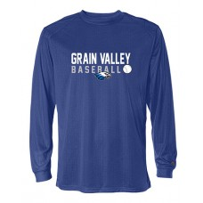 GV Baseball Dry-fit Long-sleeved T (Royal)