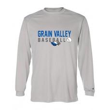 GV Baseball Dry-fit Long-sleeved T (Silver)