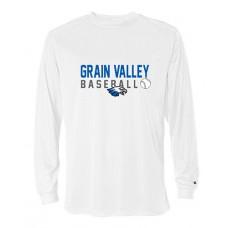 GV Baseball Dry-fit Long-sleeved T (White)