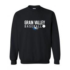 GV Baseball Crewneck Sweatshirt (Black)