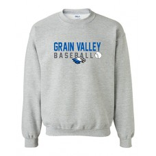 GV Baseball Crewneck Sweatshirt (Sport Grey)