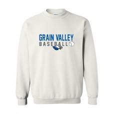 GV Baseball Crewneck Sweatshirt (White)