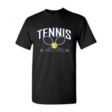 GV Tennis Short-sleeved T (Black: RACKETS)