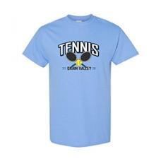 GV Tennis Short-sleeved T (Carolina Blue: RACKETS)